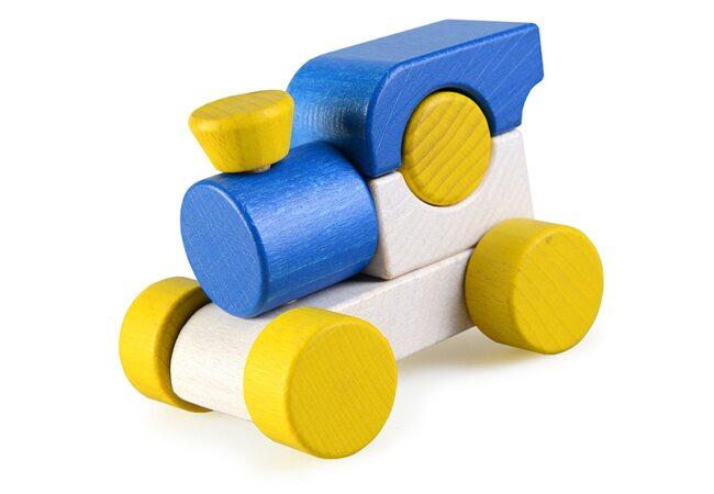 Каталка-паровоз (синяя)