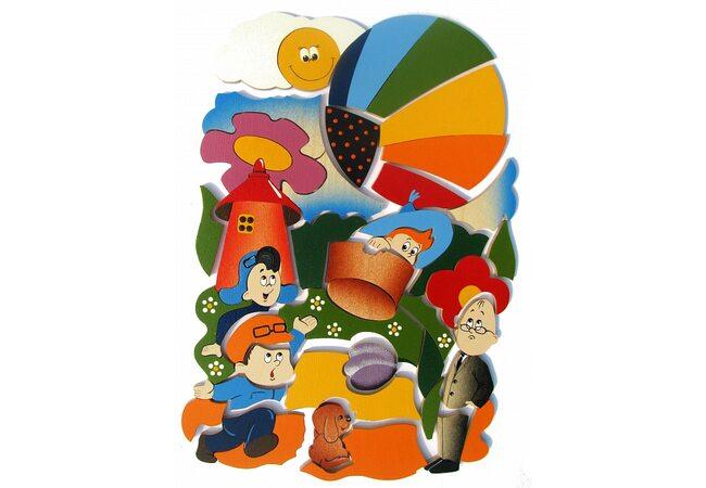 Мозаика «Незнайка на воздушном шаре», 48 дет.