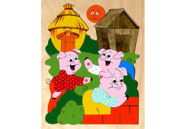 Мозаика «Три поросёнка», 30 дет.
