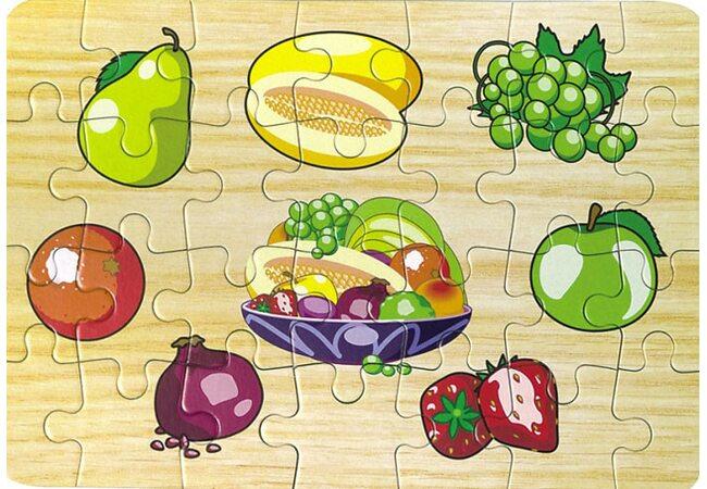 Пазл познавательный «Вкусные фрукты»