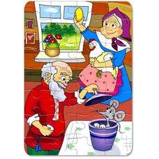 Пазл детская сказка «Курочка Ряба»