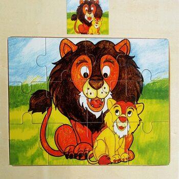 Пазл «Лев», 12 дет.
