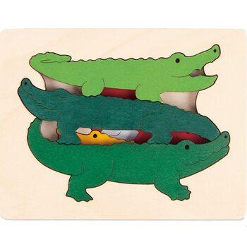 Мозаика «Крокодилы-акробаты», трехслойная