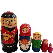Матрешка «Батюшка» семья 5 в1