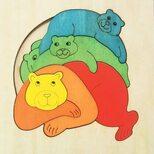 Мозаика «Медведи-акробаты», двухслойная