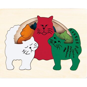 Мозаика «Семья кошек», трехслойная, 6 дет.