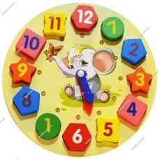 Часы-геометрия «Слоненок»