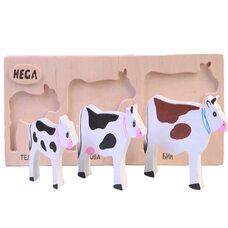 Объемные вкладыши «Семья коров»