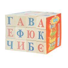 Кубики с буквами «Алфавит» (рус), 12 шт.