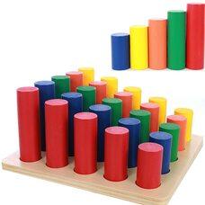 Игра «Цветные цилиндры» (25 шт.)