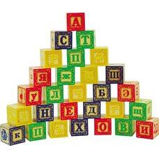 Детский набор кубиков «Буквы-цифры», 28 шт.