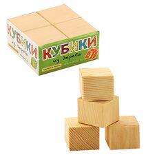 Деревянные кубики (неокрашенные), 4 шт.