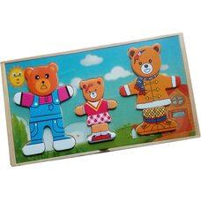 Гардероб для семьи медведей с дочкой