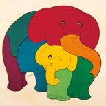 Мозаика «Слониха со слоненком», 9 дет.