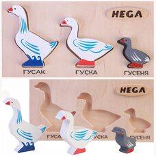 Объемные вкладыши «Семья гусей»