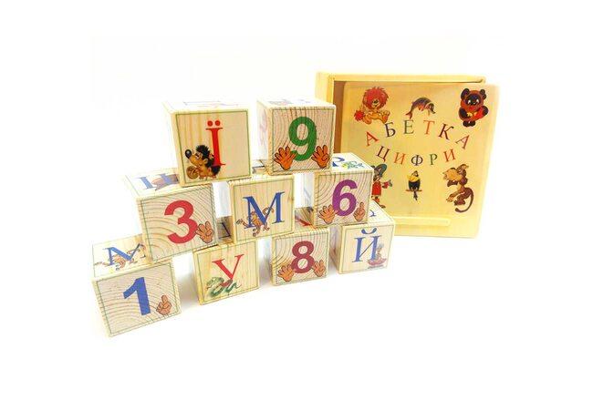 Украинский алфавит, 9 кубиков.
