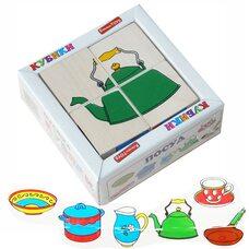 Кубики «Посуда», 4 шт.