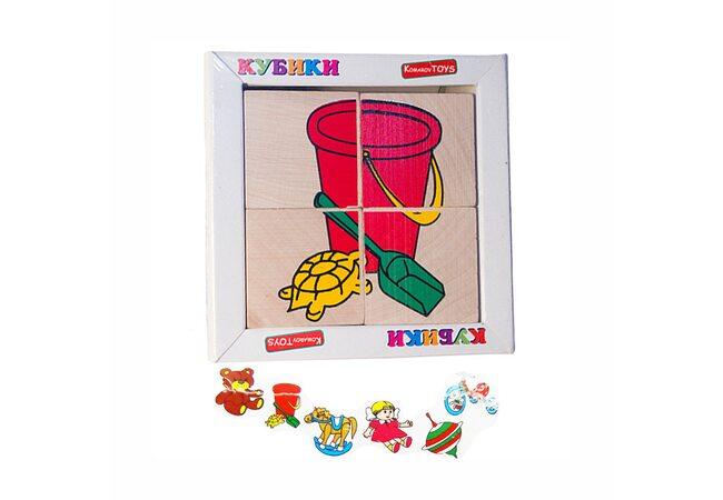 Кубики «Игрушки», 4 шт. (детские)