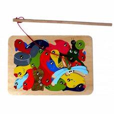 Ловись рыбка, мозаика с удочкой