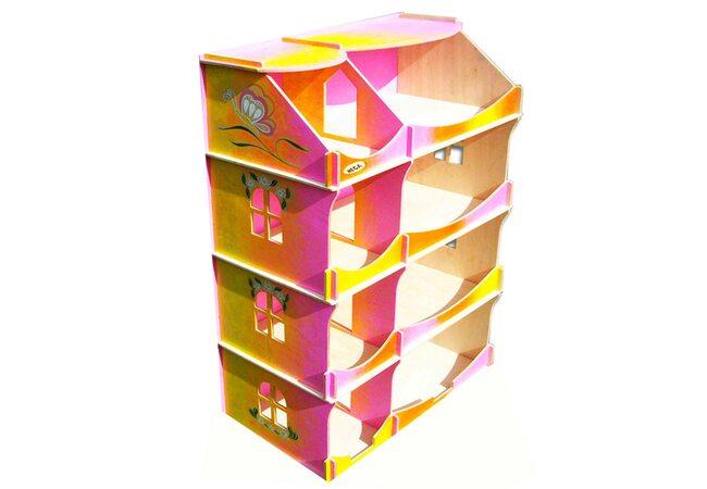 Кукольный домик-шкаф «Радужный», 4 эт