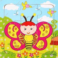 Пазл «Бабочка», 9 дет.