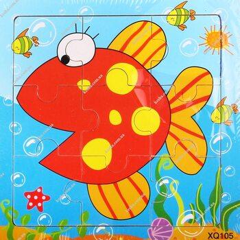 Пазл «Рыбка», 9 дет.