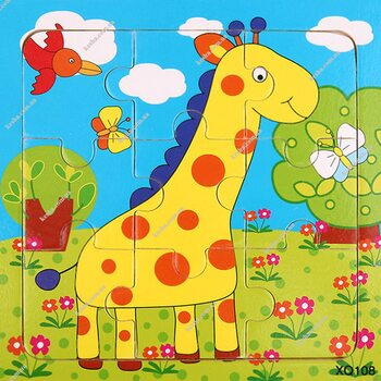 Пазл «Жирафчик», 9 дет.