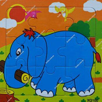 Пазл «Слон», 9 дет.