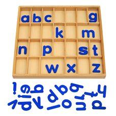 Англ. подвижный деревянный - печатные буквы
