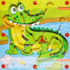 Магнитный лабиринт «Крокодил»