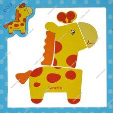 Магнитный пазл «Жираф»