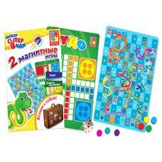Настольные магнитные игры «Лудо» и «Змеи и лесницы»