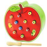 Магнитная рыбалка «Гусенички» яблоко