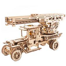Механическая 3D-модель «Пожарная машина с лестницей», 537 дет.