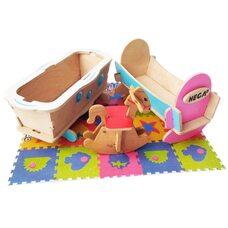 Набор мебели «Детская» (цветной), 3 предмета