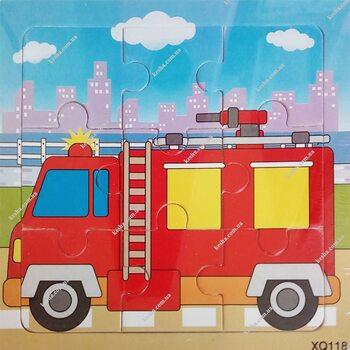 Пазл «Пожарная машина», 9 дет.