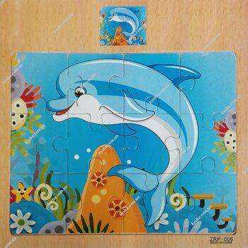 Пазл «Дельфин», 12 дет.