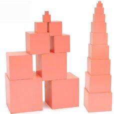 Игра «Розовая башня», Монтессори