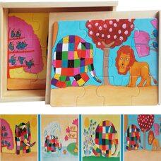Набор пазлов «Цветной слон»