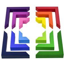 Головоломка «Цветные уголки»