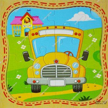 Пазл «Школьный автобус», 16 дет.