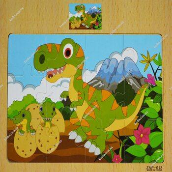 Пазл «Тираннозавр», 12 дет.