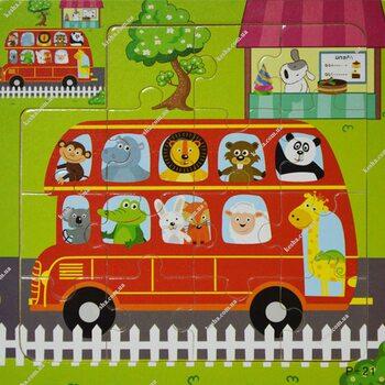 Пазл для малышей «Автобус», 15 дет.