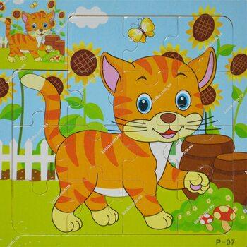 Пазл для малышей «Рыжий котёнок», 15 дет.