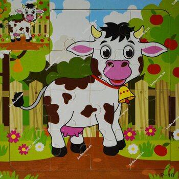 Пазл для малышей «Корова», 15 дет.