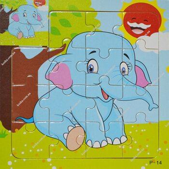 Пазл для малышей «Слоненок», 15 дет.