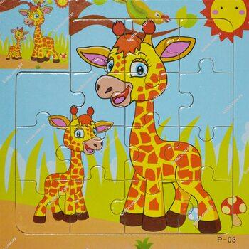 Пазл для малышей «Жираф», 15 дет.
