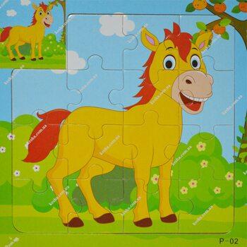 Пазл для малышей «Лошадка», 15 дет.