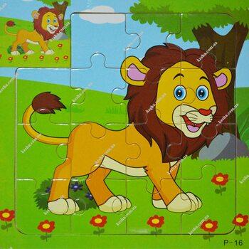 Пазл для малышей «Лев», 15 дет.