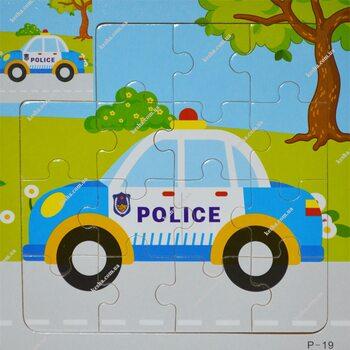Пазл для малышей «Полицейская машина», 15 дет.